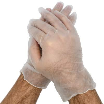 دستکش ونیل اس تی ام بسته 100 عددی