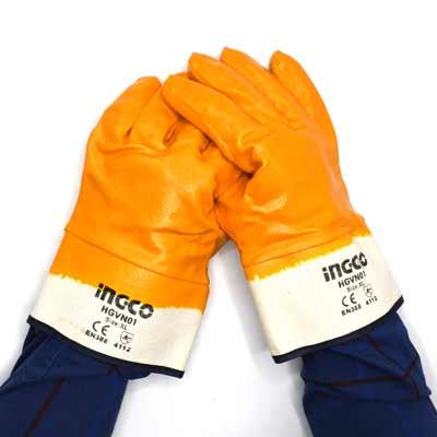 دستکش ایمنی ضد اسید اینکو مدل HGVN01