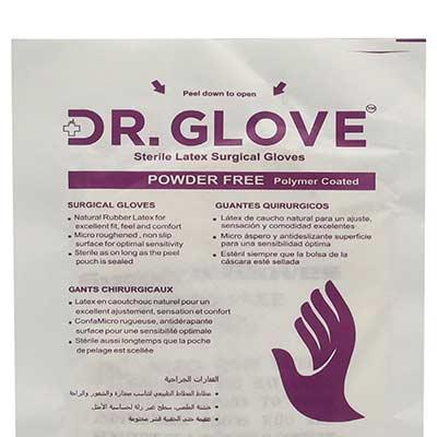 دستکش لاتکس استریل دکتر گلاو بسته 10 عددی