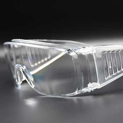 عینک ایمنی کریستالی پره دار